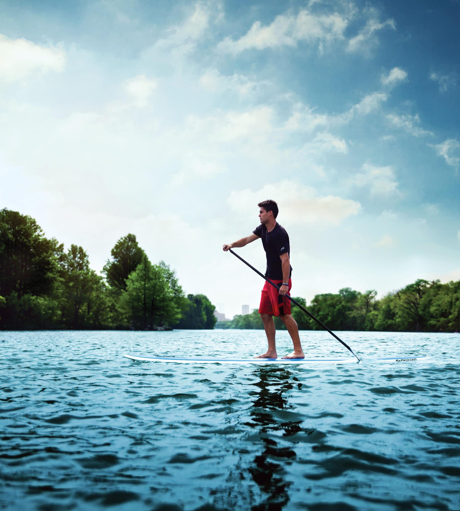 Paddleboarding on Lady Bird Lake