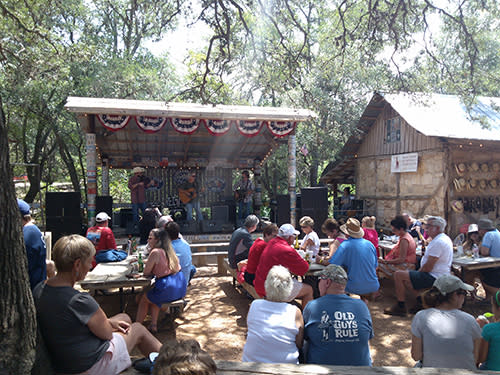 The Hill Country Food Truck Festival in Luckenbach, Texas. Photo by A. Koone
