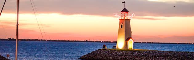 Lighthouse at Lake Hefner