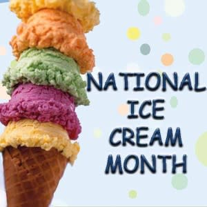 Do your country proud and be a part of National Ice Cream Month!