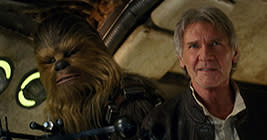 So awesome! Han and Chewie are back! I won't ask Han, but I need to know Chewie's age-defying secret. He looks amazing!