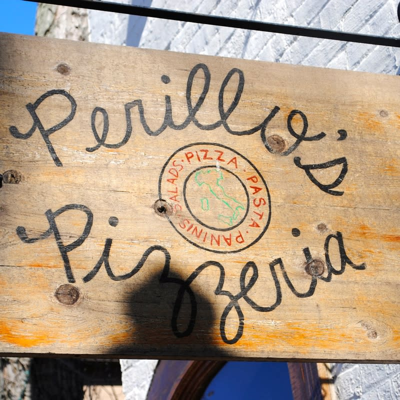 You'll find Perillo's Pizzeria just off State Road 236, on Broadway Street in North Salem.