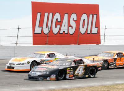 Racing at Lucas Oil Raceway, Brownsburg, Indiana
