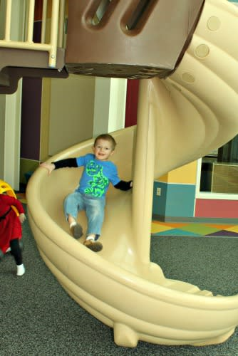 The slides are so much fun!