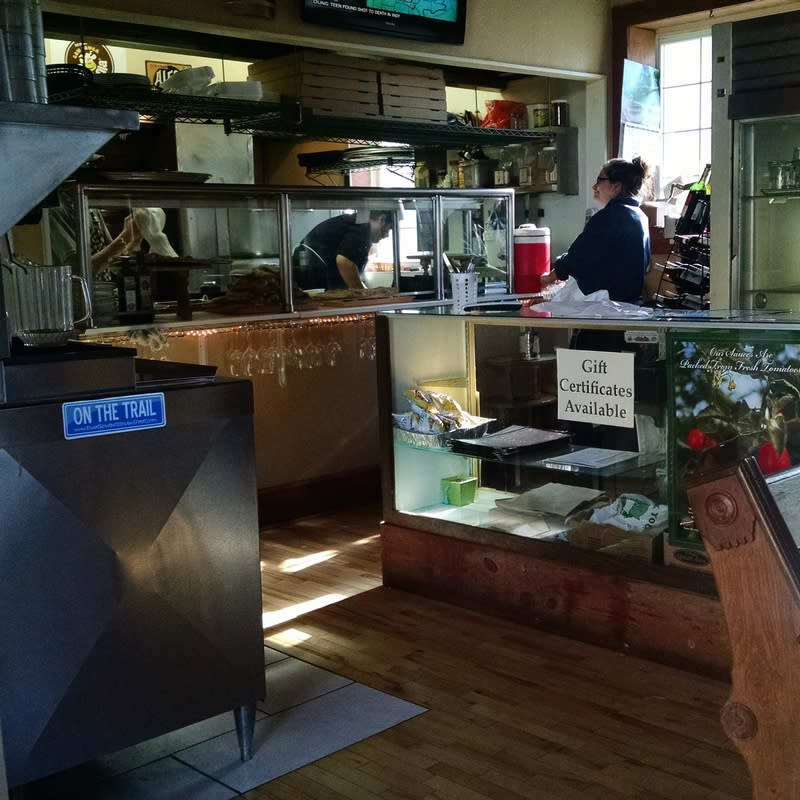 You can watch your meal being prepared at Perillo's Pizzeria in North Salem.