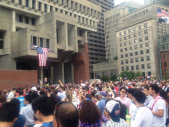 boston City Hall Soccer Viewing party
