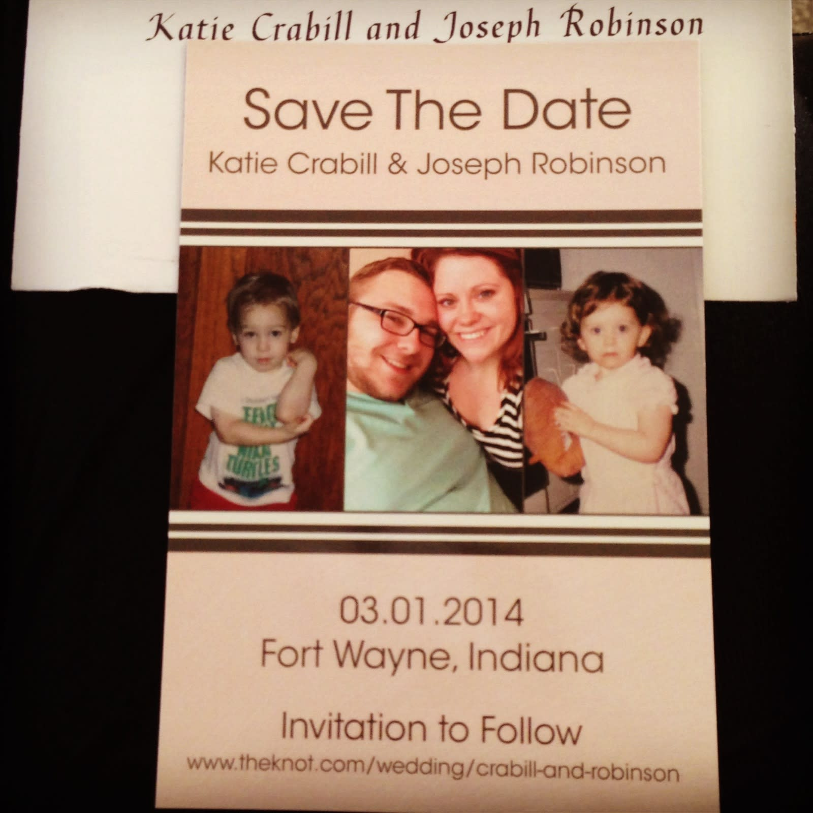 Our Save the Dates from The Monogram Shoppe