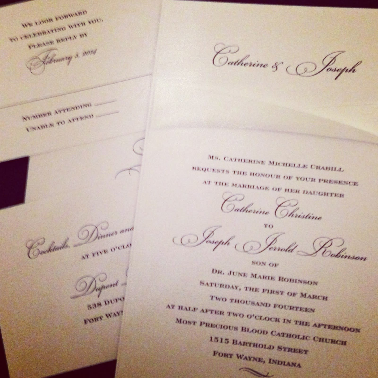 The Monogram Shoppe has many styles of wedding invitations to choose from.