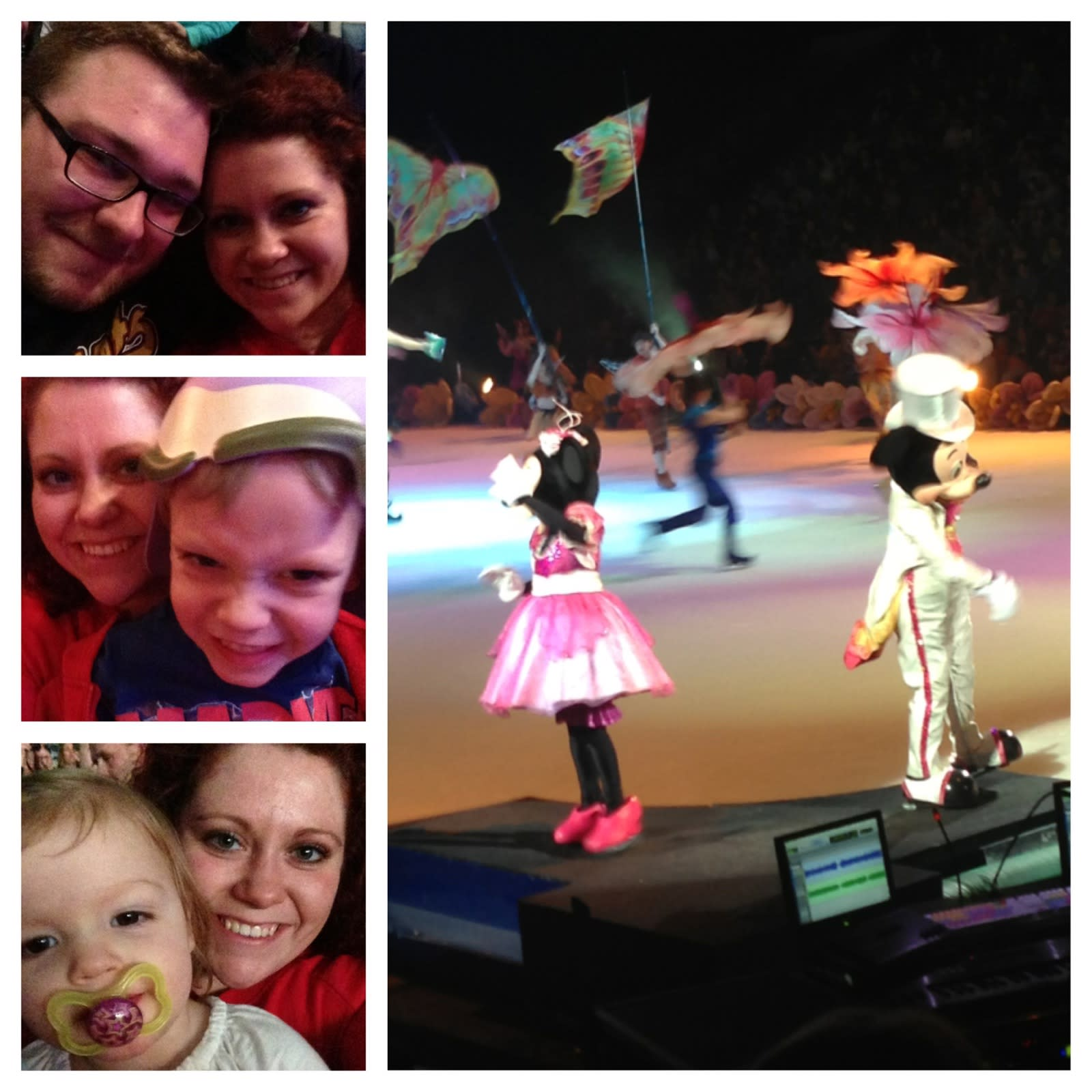 Scenes from Disney on Ice a couple of years ago with our niece and nephew!