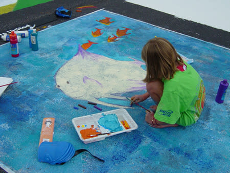 Artists of all ages are welcome to bring their chalk creations to life at the Chalk Walk presented by the Fort Wayne Museum of Art!
