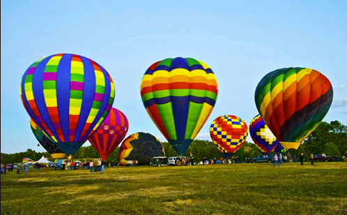 The hot air balloons are one of the must-sees at the Allen county Fair.
