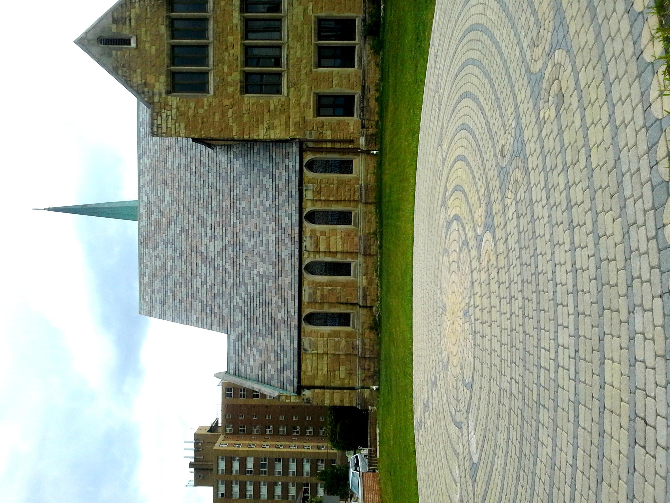 The labyrinth is on the corner of Berry and Broadway streets.