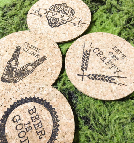 Hedgehog Press Cork Coasters