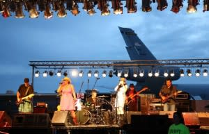 Fort Wayne band, Sugar Shot performing at the 2012 Air Show hosted by the 122nd Fighter Wing