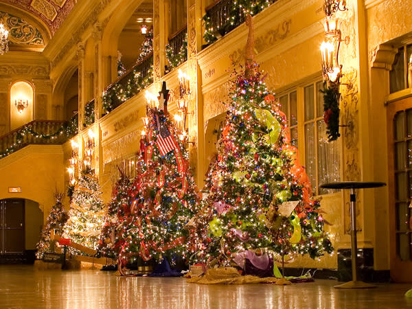 Check out the beautifully decorated trees at the Festival of Trees at the Embassy Theatre