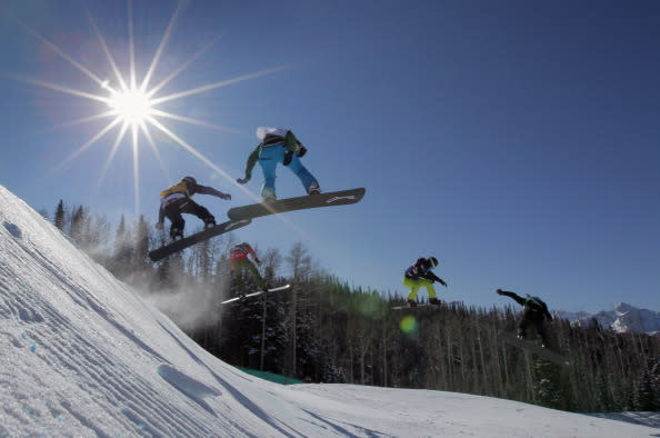alpine hills adventure park - snowboarding