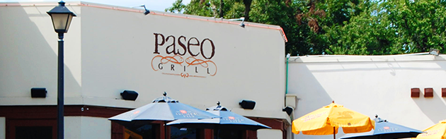 Exterior of the Paseo Grill Restaurant