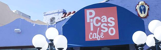 Exterior of Picasso Cafe Restaurant