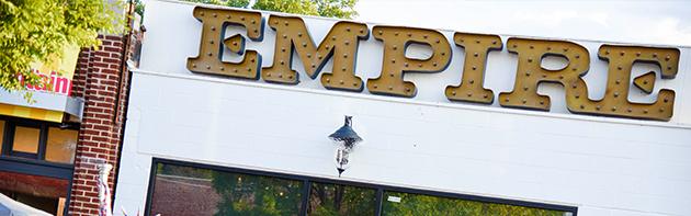 Exterior of Empire Slice House Restaurant