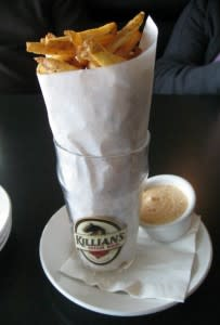 These fries with homemade dipping sauce are so addictive.