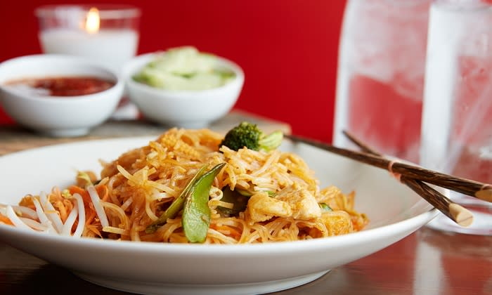 Pad thai from Thai on the Fly