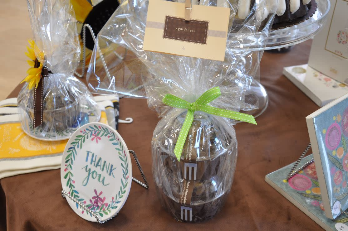 Gift wrapped bundt cake