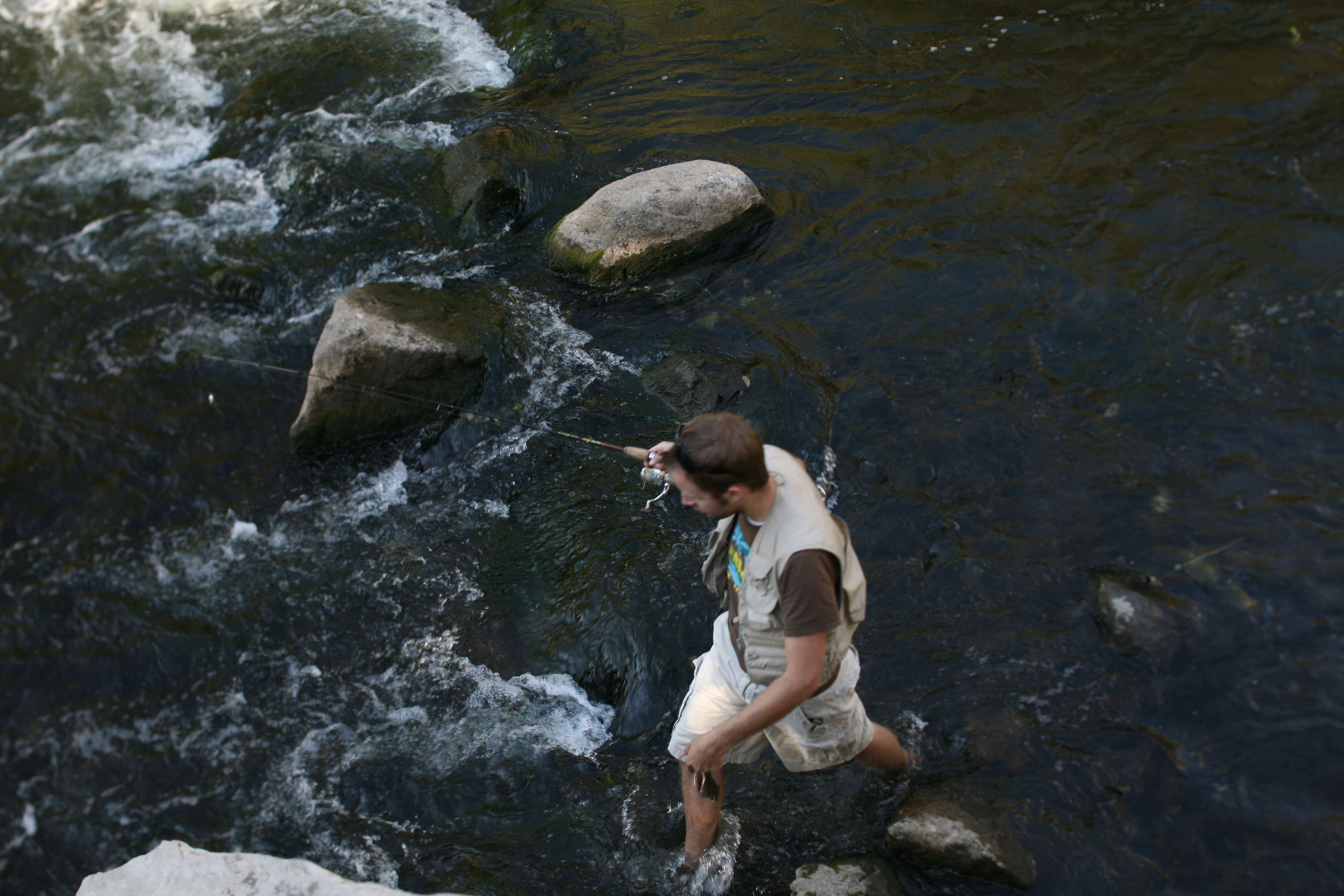 Man fishing on the Provo River