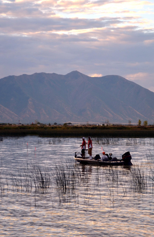 A fishing boat on Utah Lake
