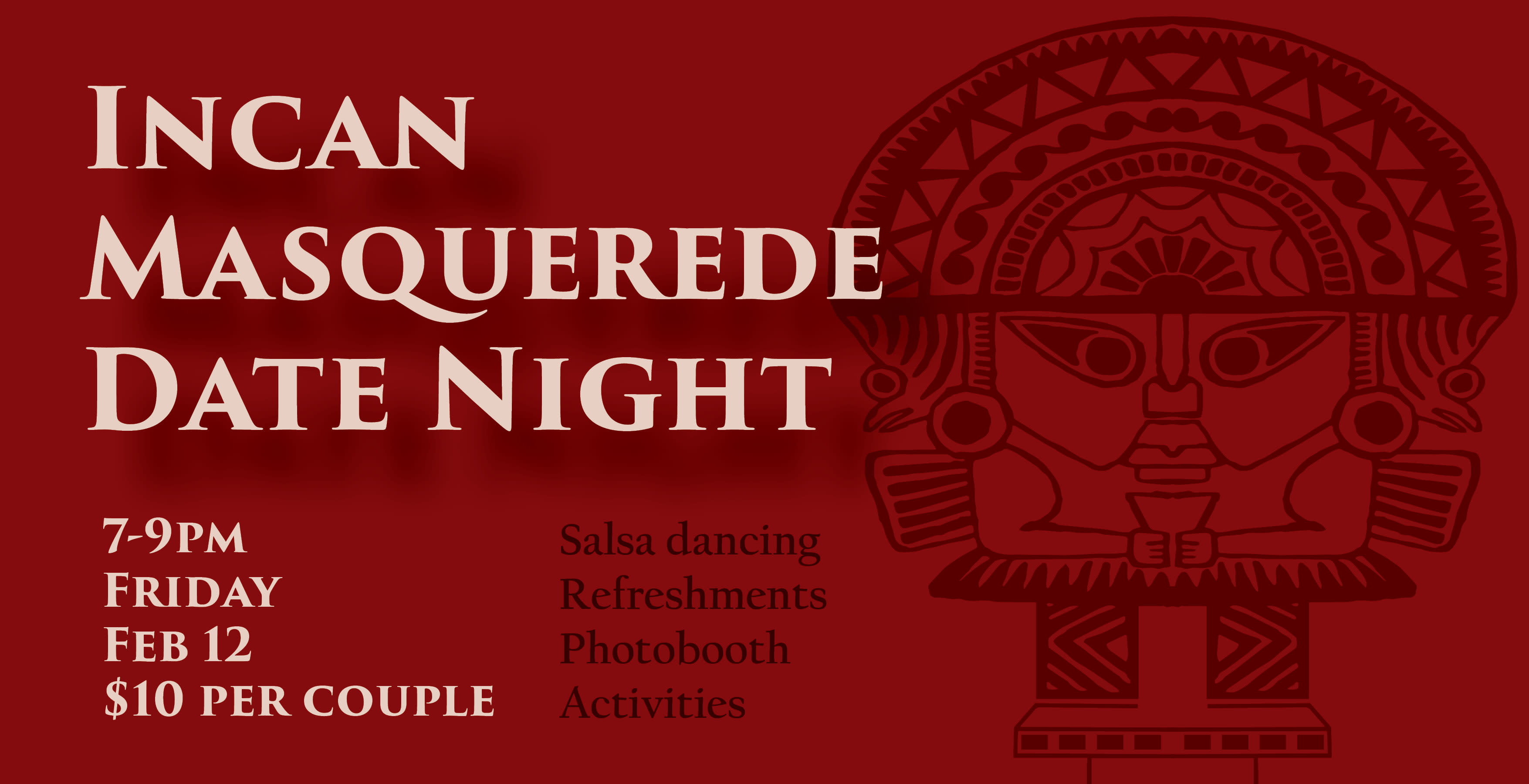 Flyer for the Incan Masquerade