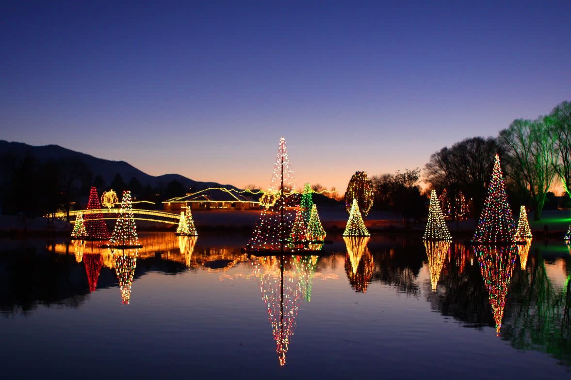 Salem Pond Town Lights