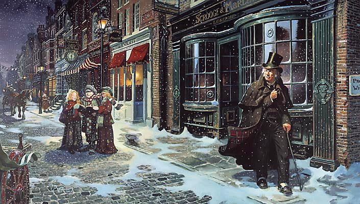 A scene from A Christmas Carol