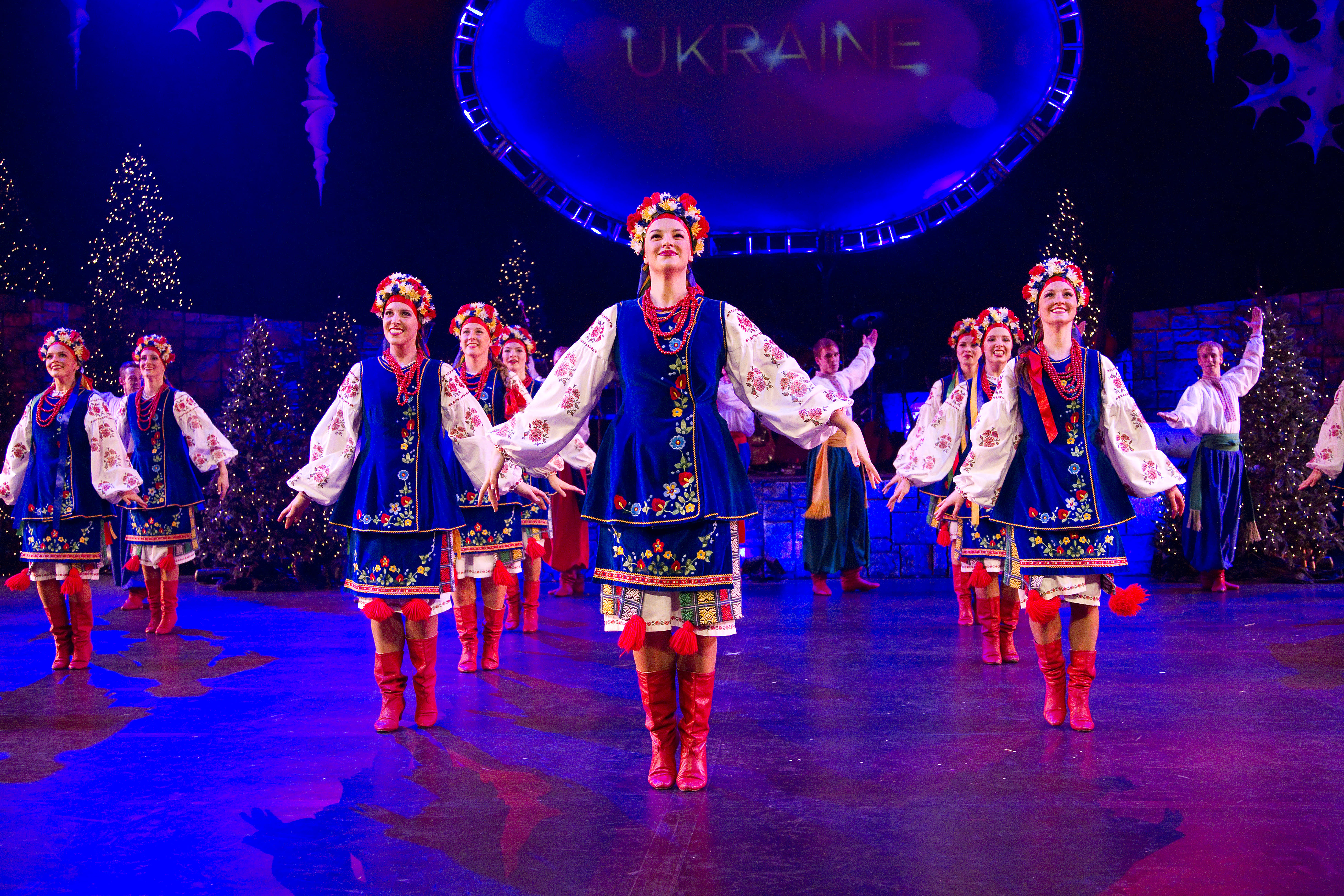 BYU Folk Dance Team performing a Ukrainian Christmas Dance