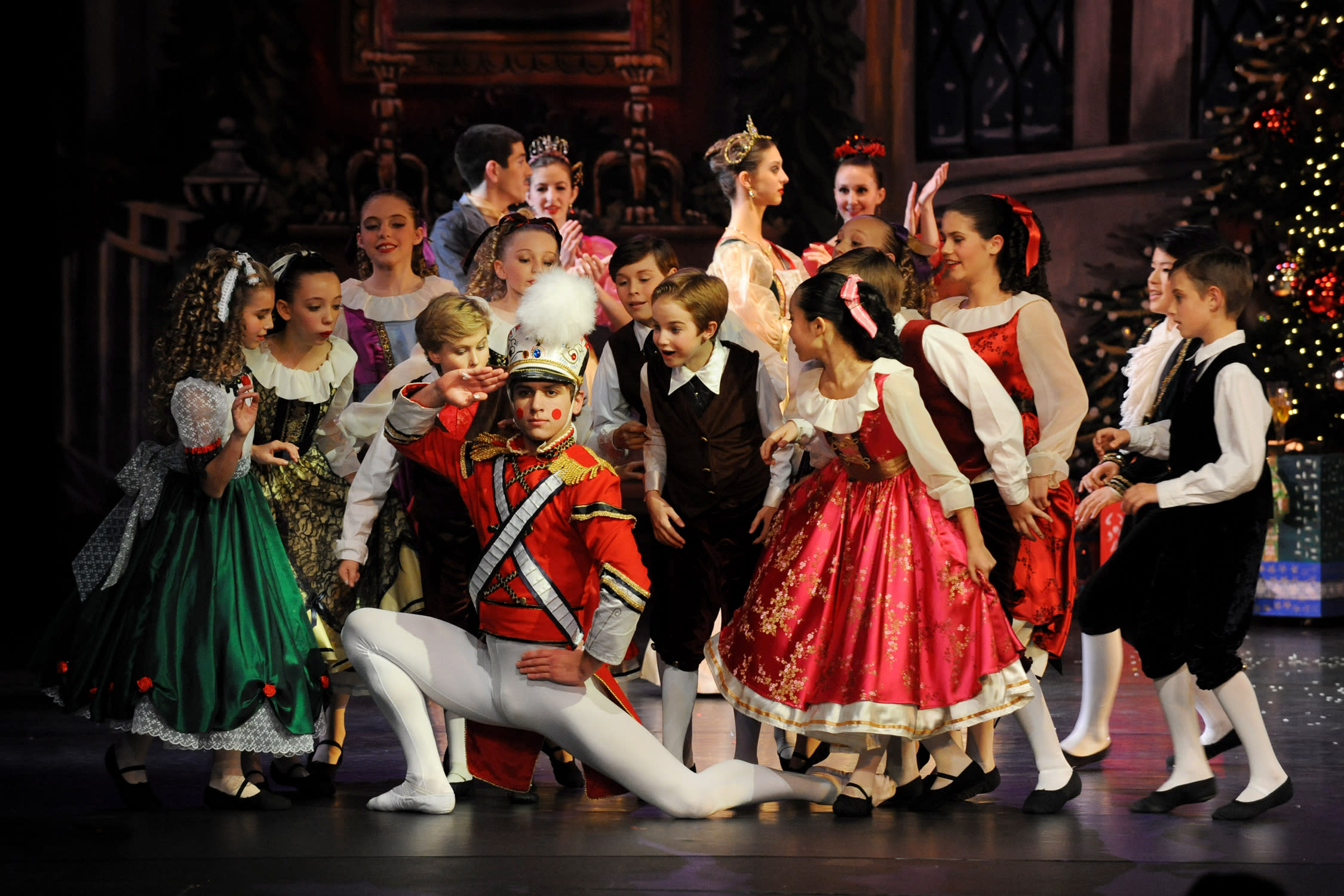 The toy soldier dancing in the Nutcracker