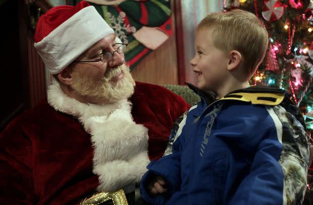Santa at the Springville Library