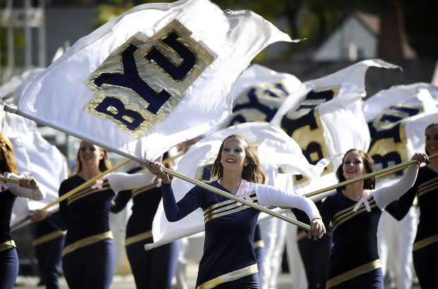 BYU Colorguard at the parade