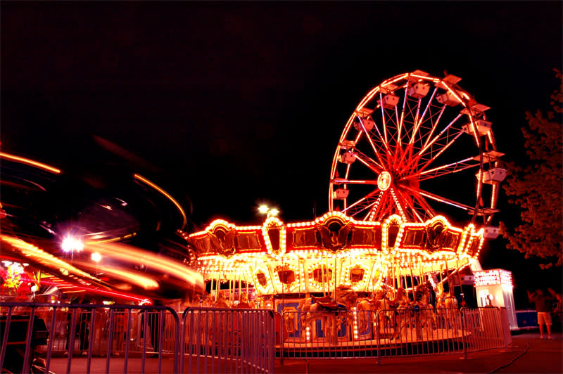 Fiesta Days Carnival at night
