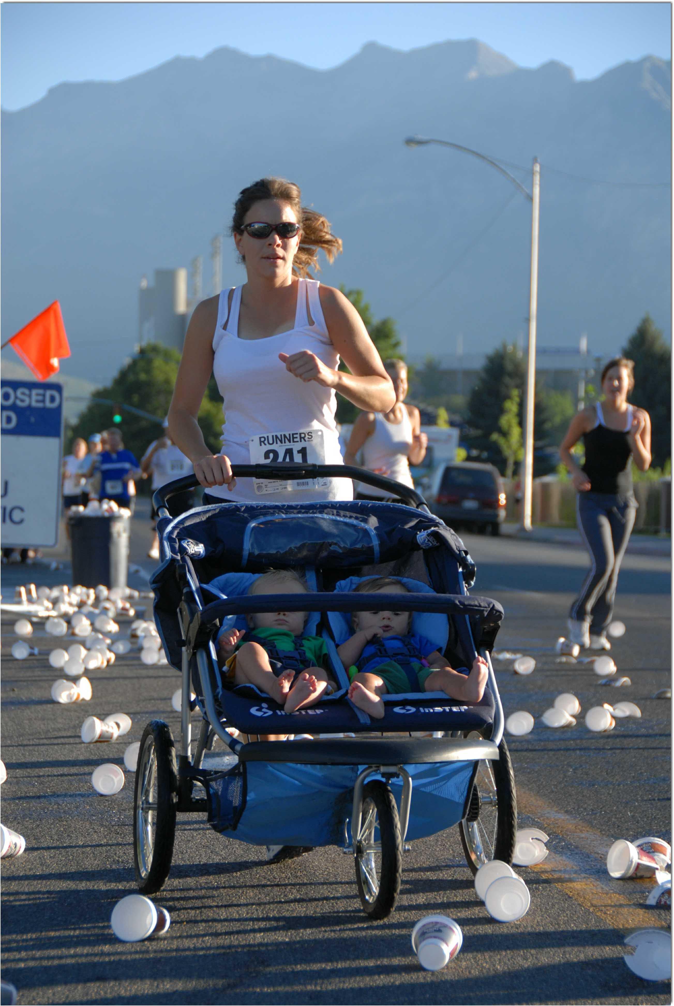 Runner with stroller