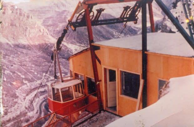 The tram at Bridal Veil Falls