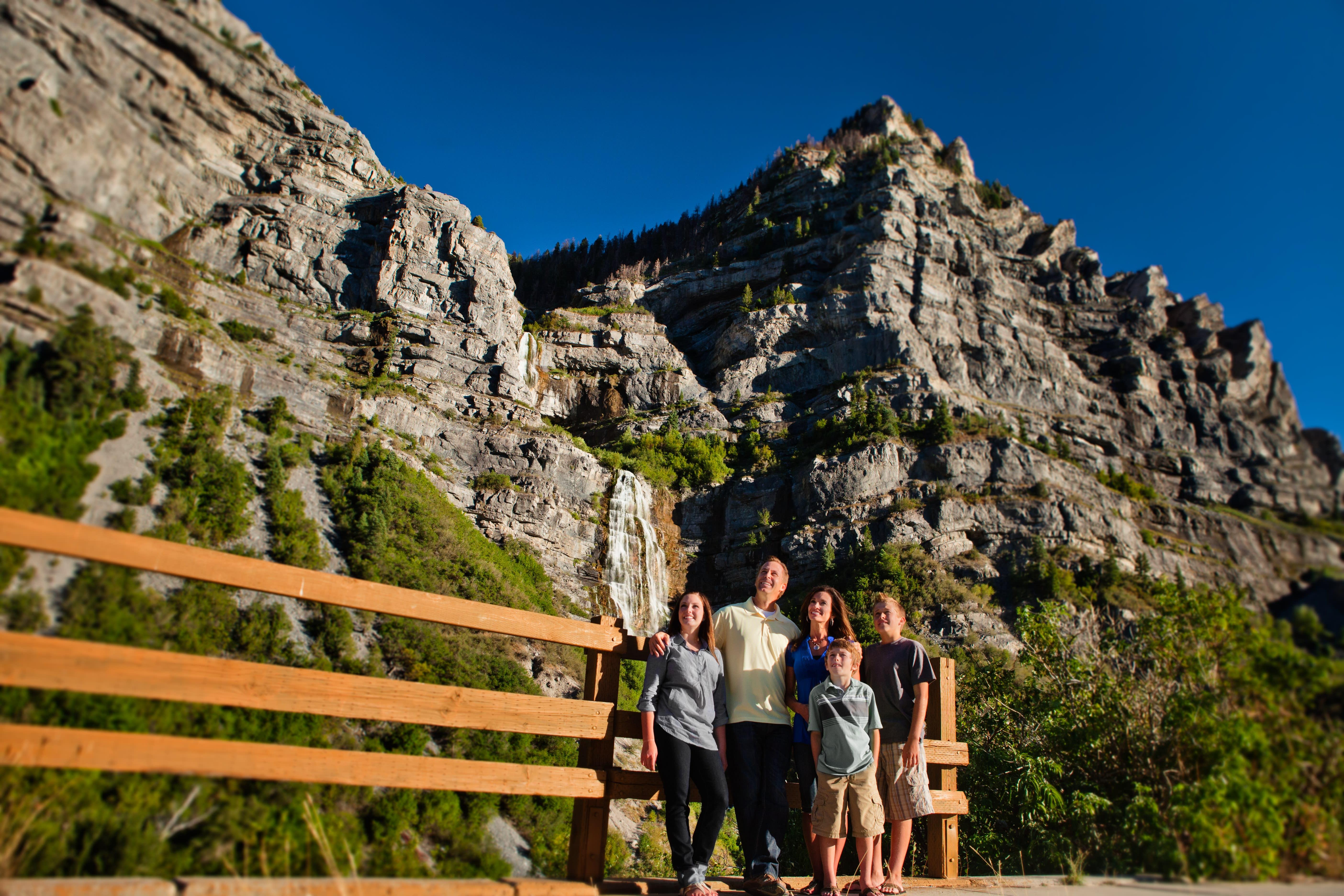 Family at Bridal Veil Falls