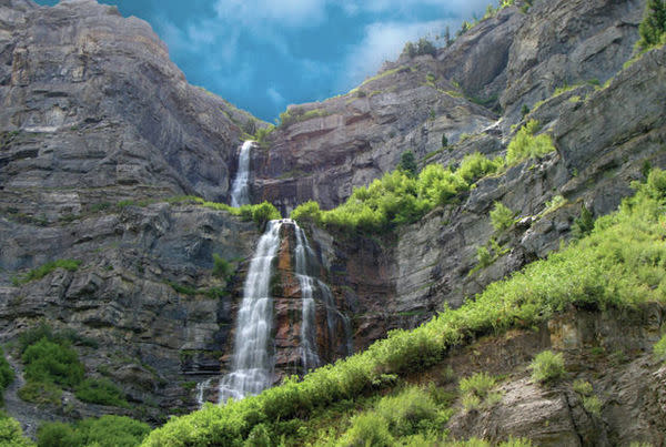 Bridal Veil Falls in Provo Canyon