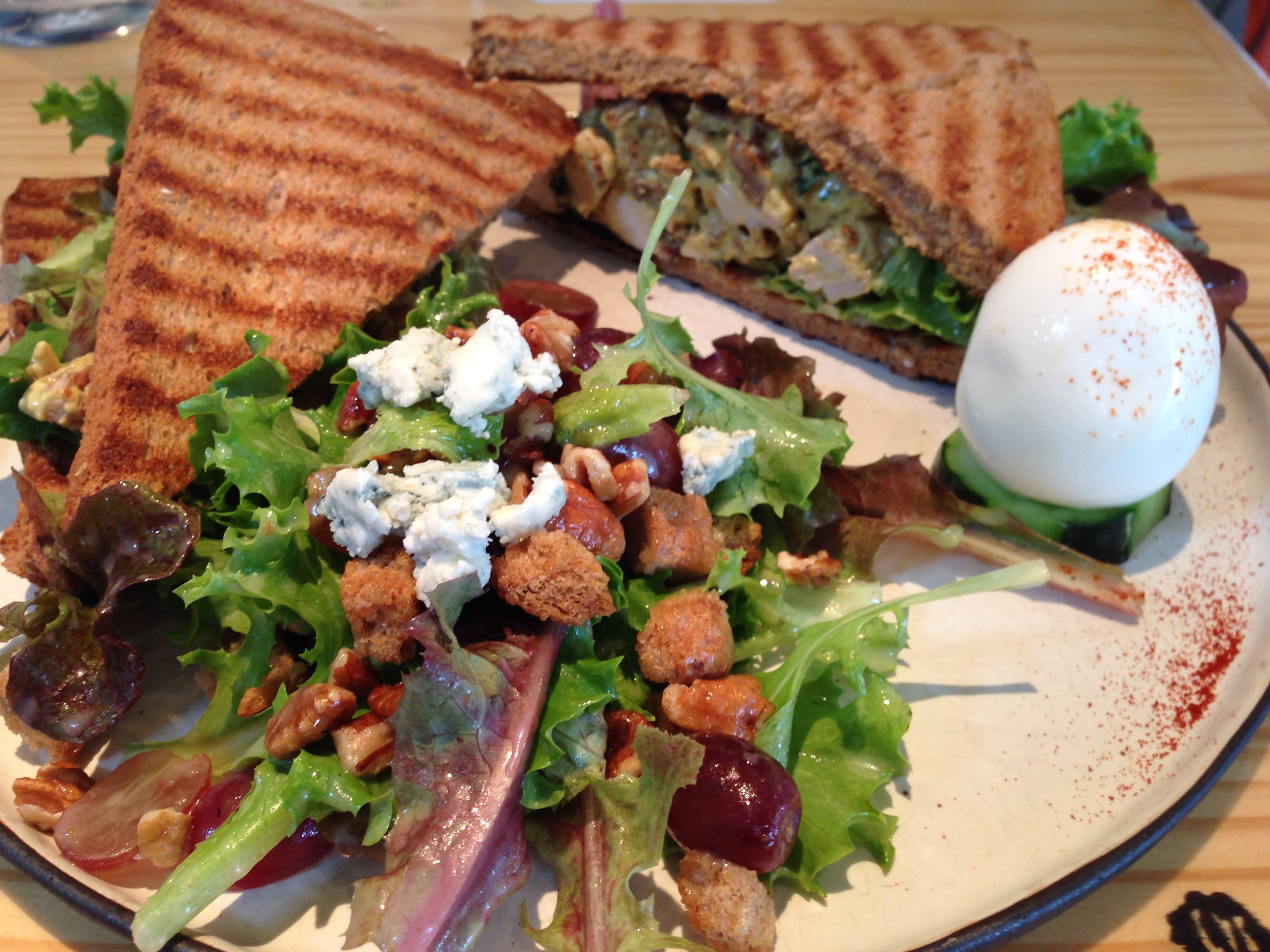 Organic Curried Chicken Salad Sandwich