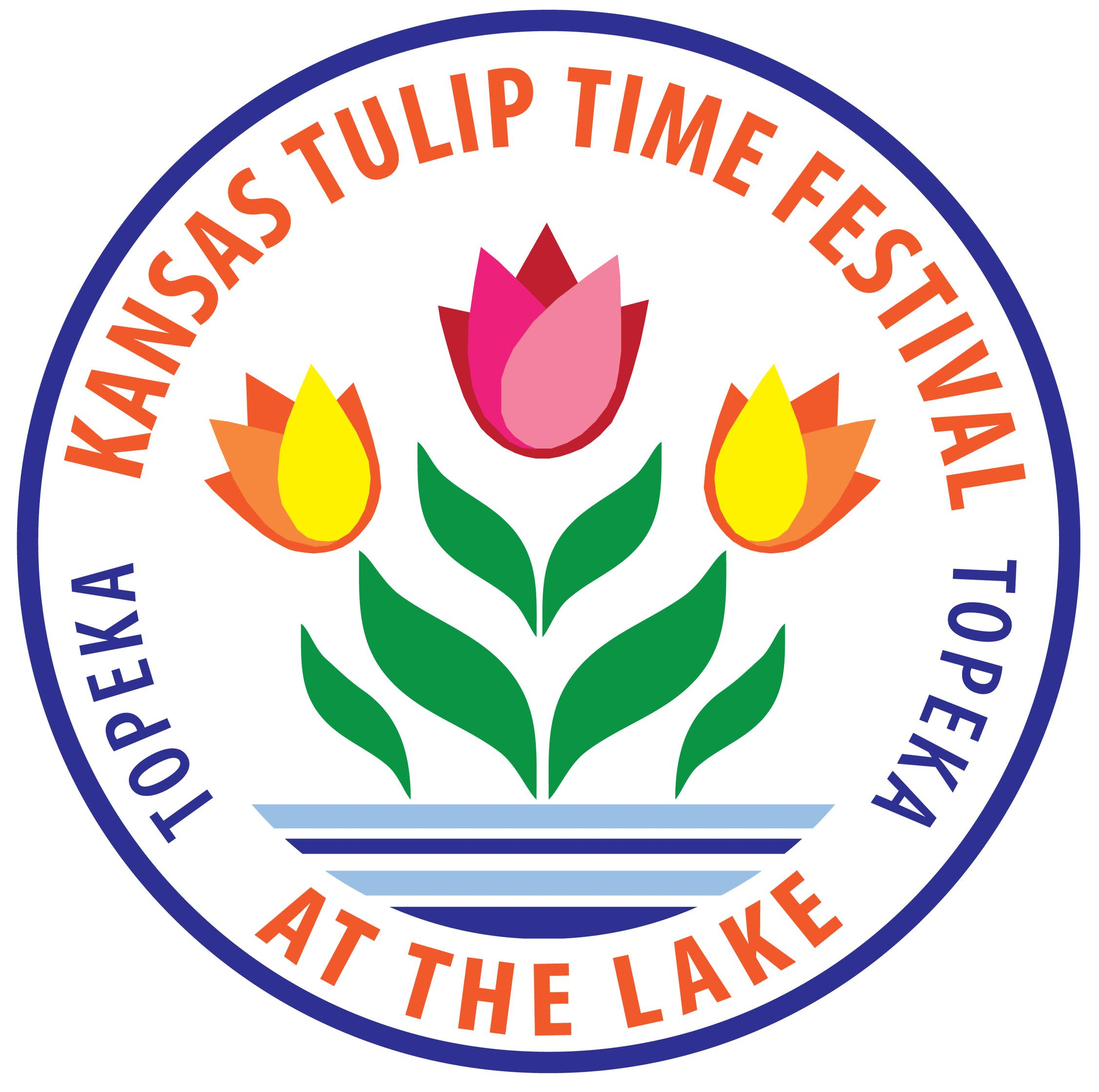 Tulip Time Festival Day at the Lake logo - words in circle around drawing of tulip.