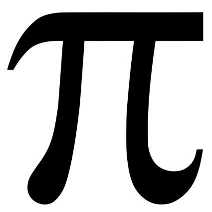 Greek letter pi symbol