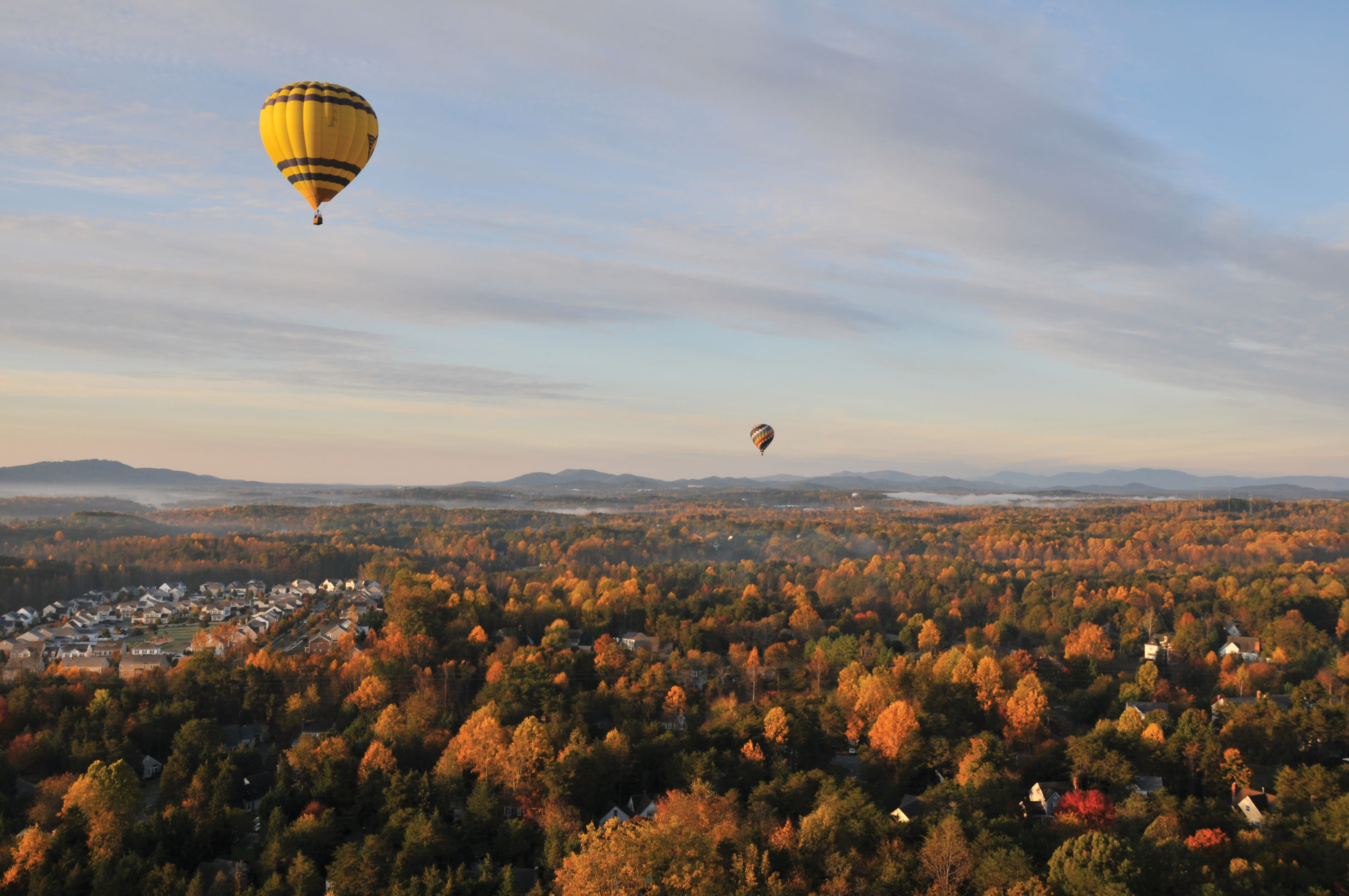 Ballooning over Albemarle County. (Photo: Theresa White)