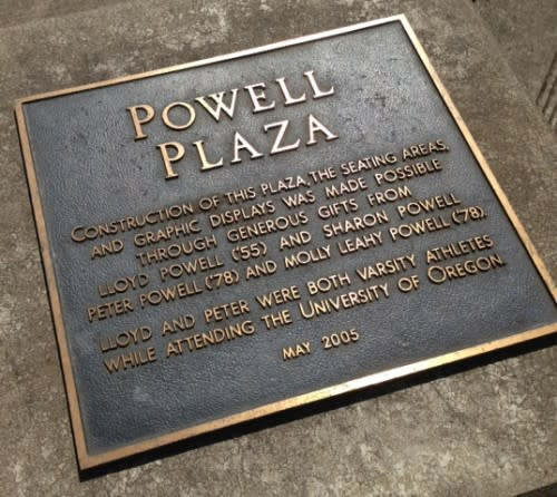 Powell Plaza Plaque