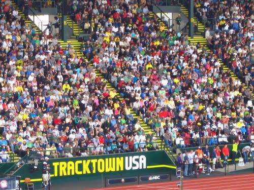 TrackTown USA Fans pack Hayward Field