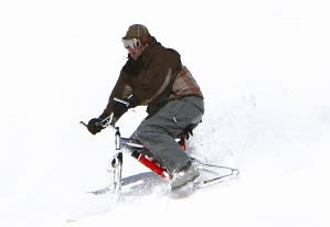 Where else can you try a snowbike but at Hoodoo?