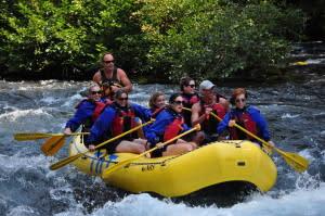 McKenzie River rapids