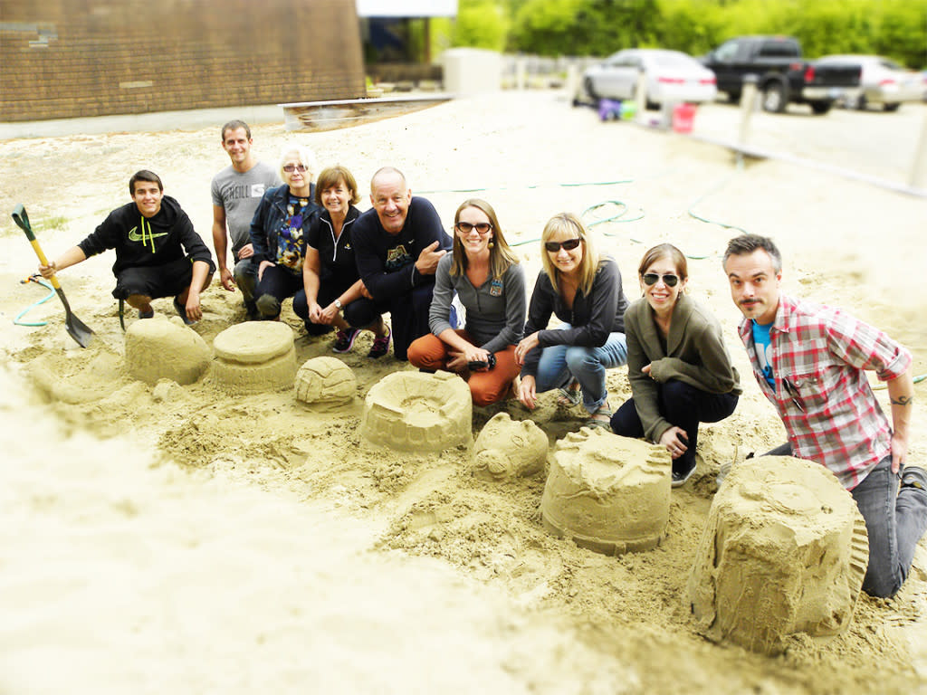 Sand Sculpting Team Building