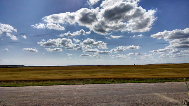 Clouds floating over the Northern Central Prairie in Kansas